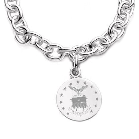 Air Force Academy Sterling Silver Charm Bracelet