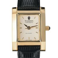 St. John's Women's Gold Quad with Leather Strap
