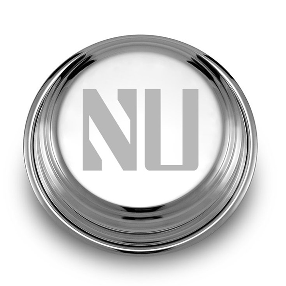 Northwestern Pewter Paperweight Image-1