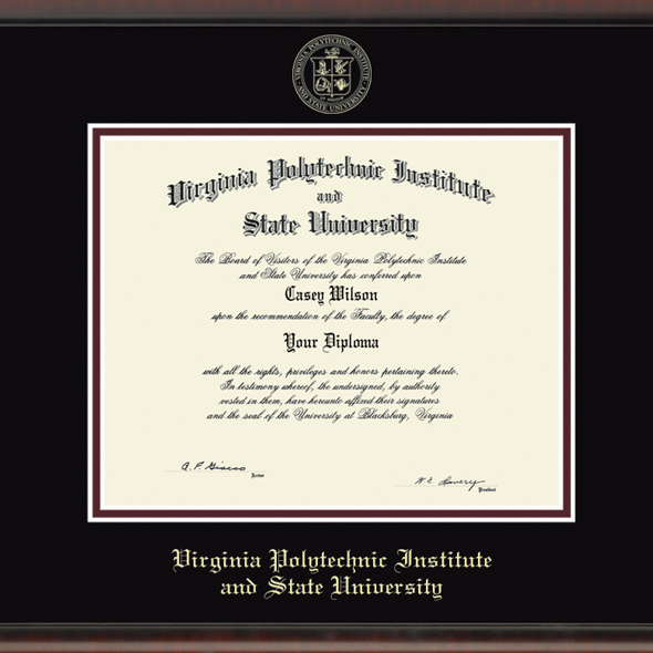 Virginia Tech Diploma Frame Fidelitas Graduation Gift