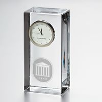 Ole Miss Tall Desk Clock by Simon Pearce