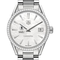 SMU Women's TAG Heuer Steel Carrera with MOP Dial & Diamond Bezel Image-1 Thumbnail