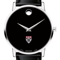 Harvard Business School Men's Movado Museum with Leather Strap