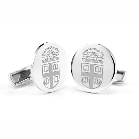 Brown Sterling Silver Cufflinks