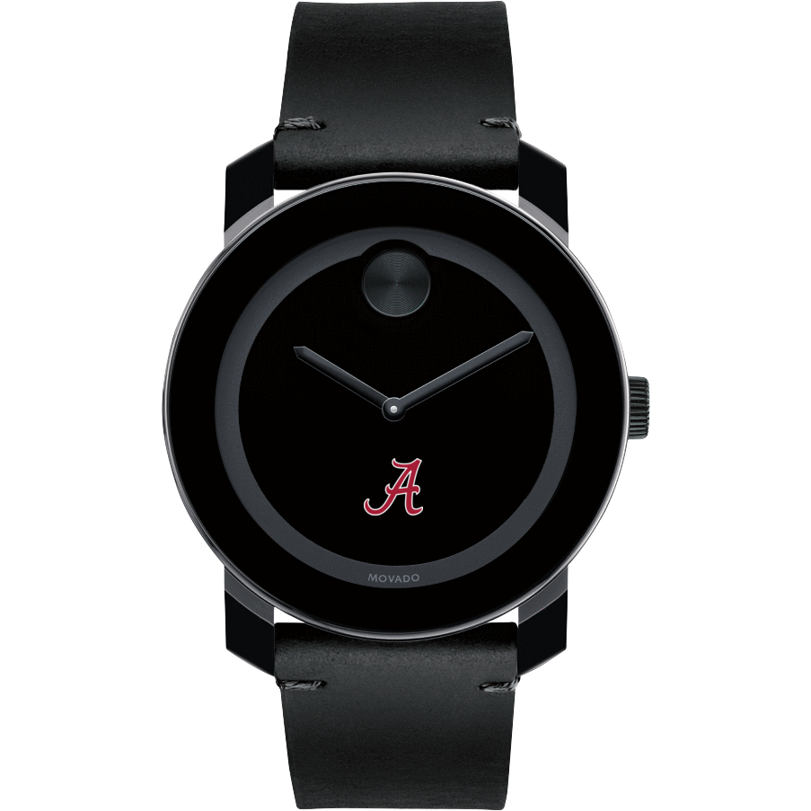Alabama Men's Movado BOLD with Leather Strap