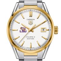 LSU Men's TAG Heuer Two-Tone Carrera with Bracelet