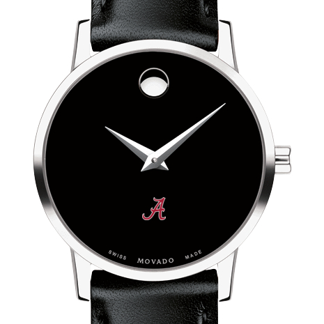 Alabama Women's Movado Museum with Leather Strap