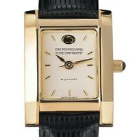 Penn State Women's Gold Quad Watch with Leather Strap