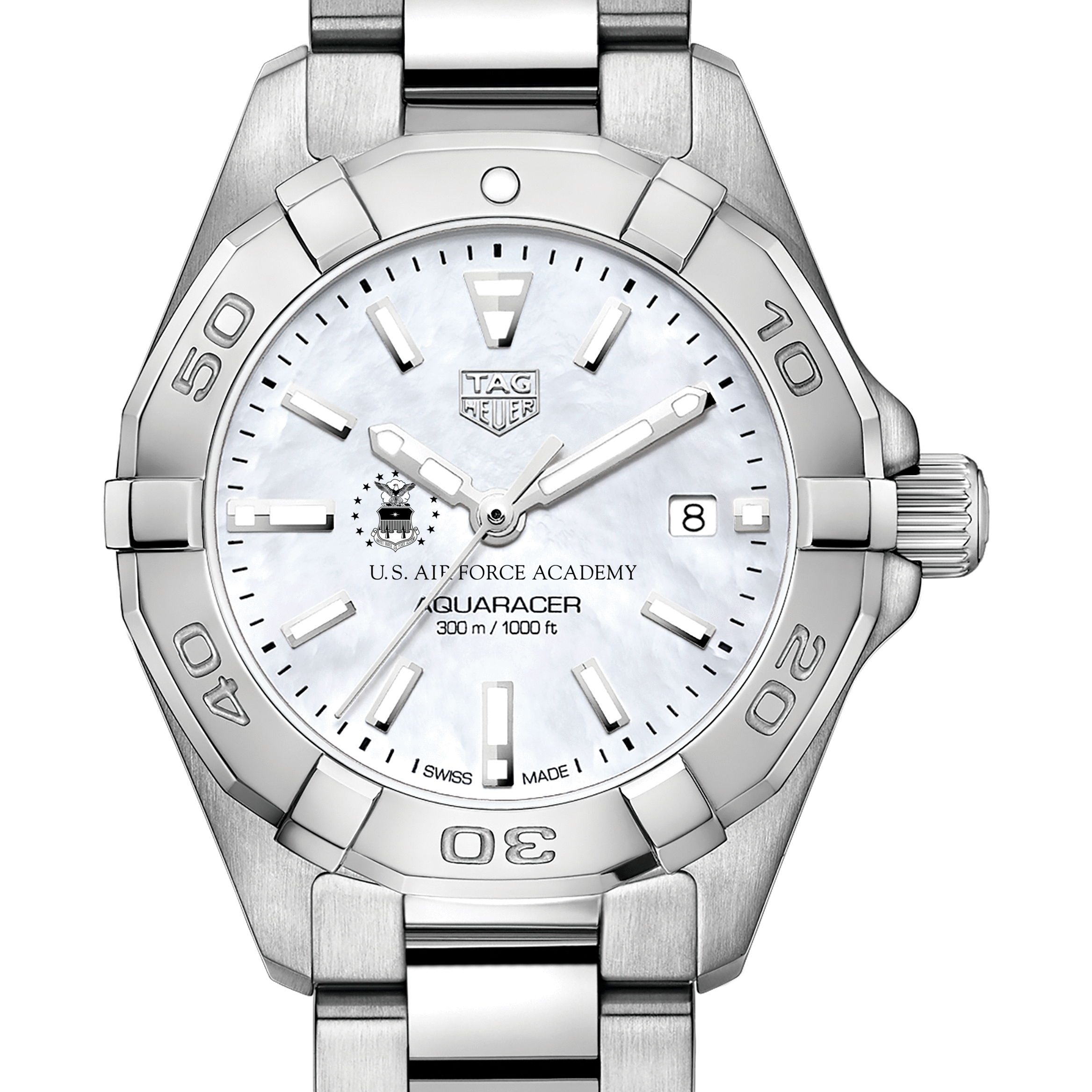 Air Force Academy Women's TAG Heuer Steel Aquaracer with MOP Dial