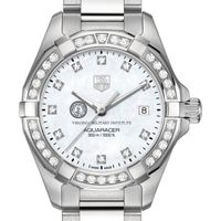 VMI Women's TAG Heuer Steel Aquaracer with MOP Diamond Dial & Diamond Bezel