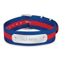 Ole Miss NATO ID Bracelet