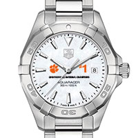 Clemson Women's TAG Heuer Steel Aquaracer w MOP Dial- Championship Edition