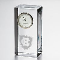 Holy Cross Tall Glass Desk Clock by Simon Pearce