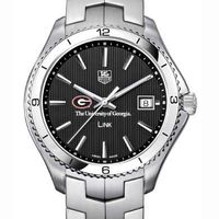 Georgia TAG Heuer Men's Link Watch with Black Dial