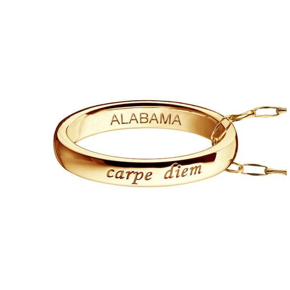 "Alabama Monica Rich Kosann ""Carpe Diem"" Poesy Ring Necklace in Gold"