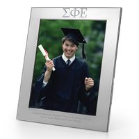 Sigma Phi Epsilon Polished Pewter 8x10 Picture Frame Image-1 Thumbnail