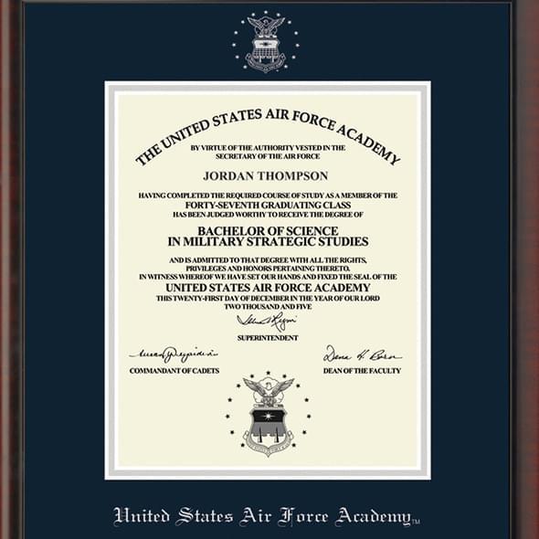USAFA Fidelitas Diploma Frame
