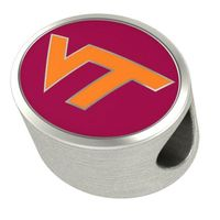 Virginia Tech Enameled Premium Bead
