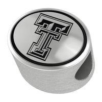Texas Tech Enameled Bead in Black