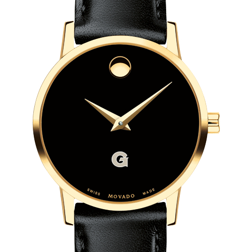 Georgetown Women's Movado Gold Museum Classic Leather