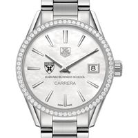 Harvard Business School Women's TAG Heuer Steel Carrera with MOP Dial & Diamond Bezel