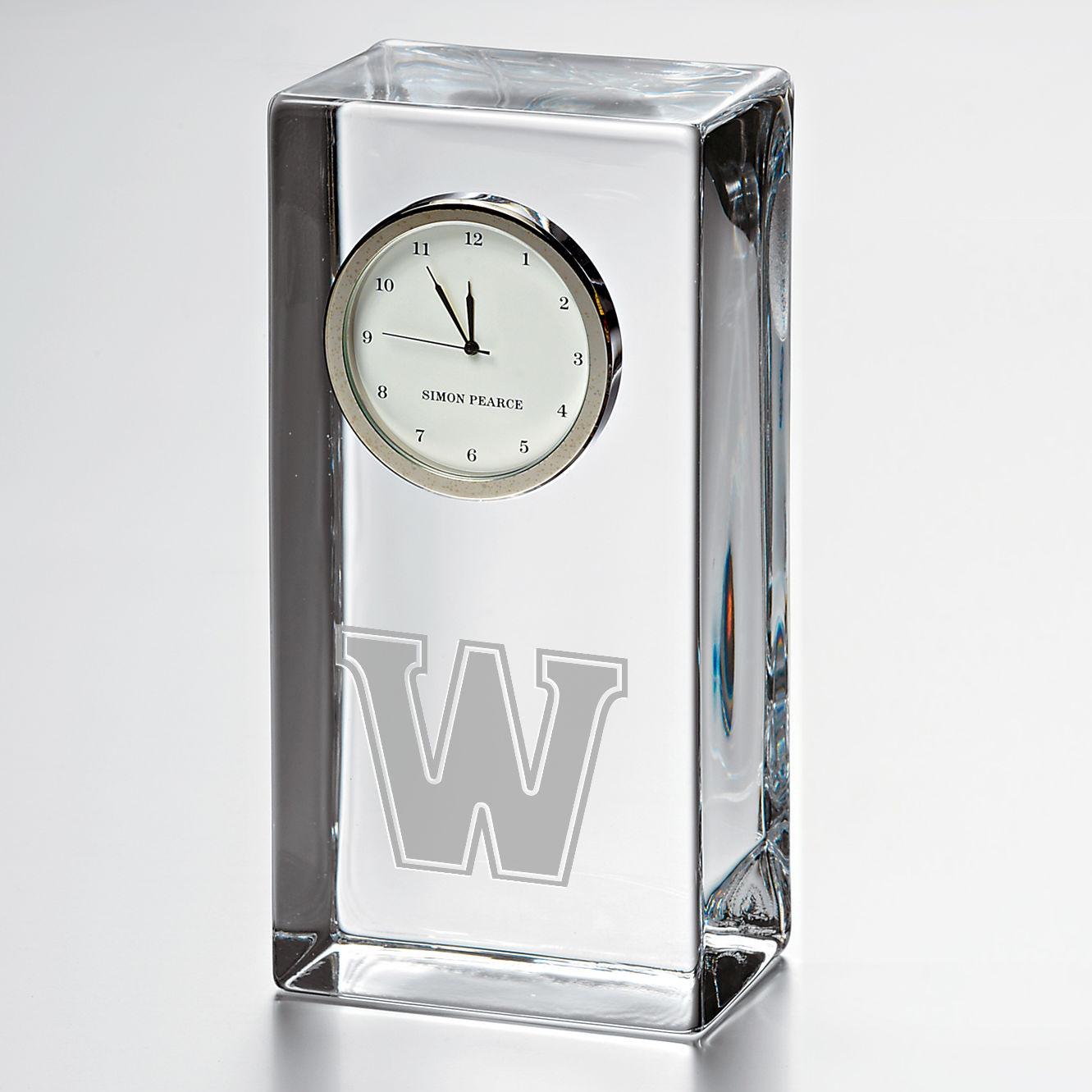 Williams Tall Class Desk Clock by Simon Pearce