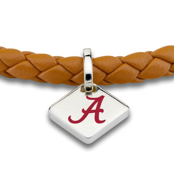 Alabama Leather Bracelet with Sterling Silver Tag - Saddle