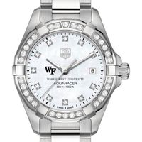 Wake Forest Women's TAG Heuer Steel Aquaracer with MOP Diamond Dial & Diamond Bezel