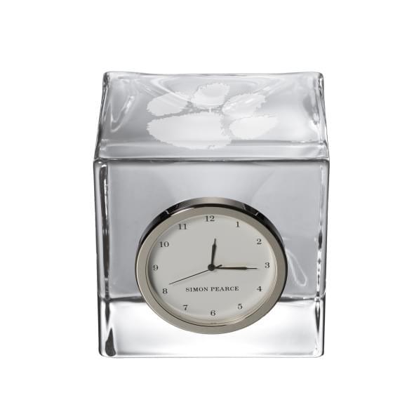 Clemson Glass Desk Clock by Simon Pearce