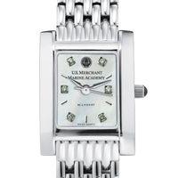 USMMA Women's Mother of Pearl Quad Watch with Diamonds & Bracelet