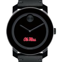 Ole Miss Men's Movado BOLD with Leather Strap