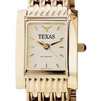 Texas Women's Gold Quad Watch with Bracelet