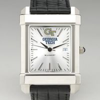 GeorgiaTech Men's Collegiate Watch with Leather Strap