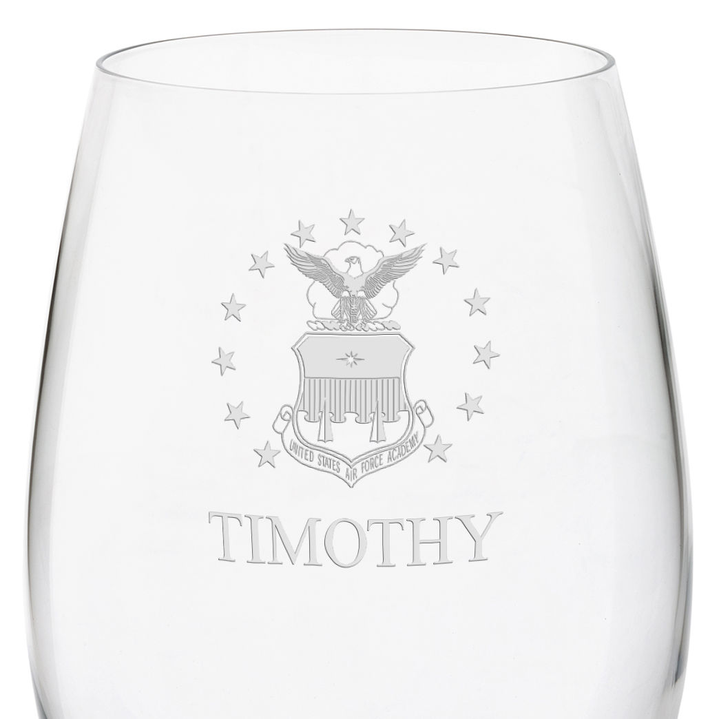 Air Force Academy Red Wine Glasses - Set of 2