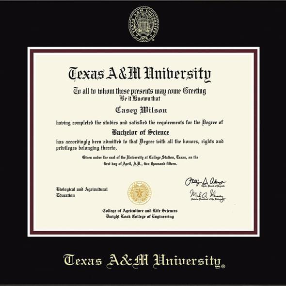 Texas A Amp M University Diploma Frame Fidelitas