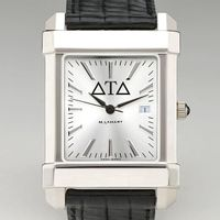 Delta Tau Delta Men's Collegiate Watch with Leather Strap Image-1 Thumbnail