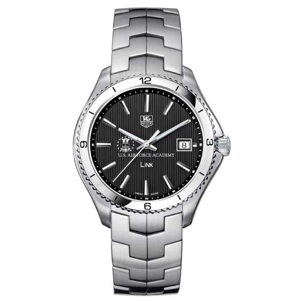 USAFA TAG Heuer Men's Link Watch with Black Dial