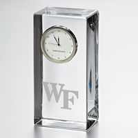 Wake Forest Tall Glass Desk Clock by Simon Pearce