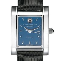 Coast Guard Women's Steel Quad Blue Dial with Leather