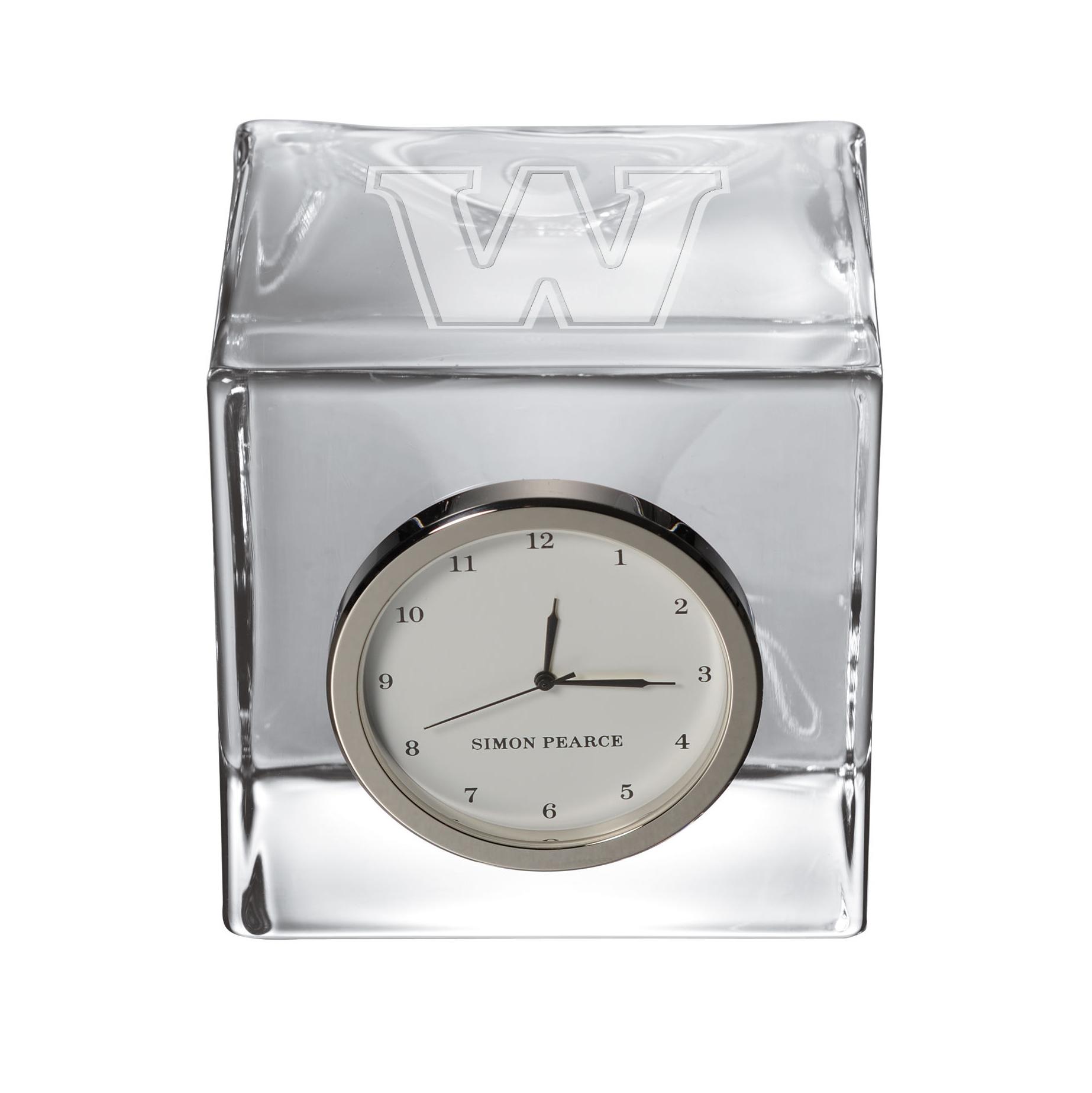 Williams Glass Desk Clock by Simon Pearce