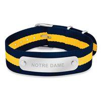 University of Notre Dame NATO ID Bracelet
