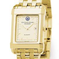 USCGA Men's Gold Quad Watch with Bracelet