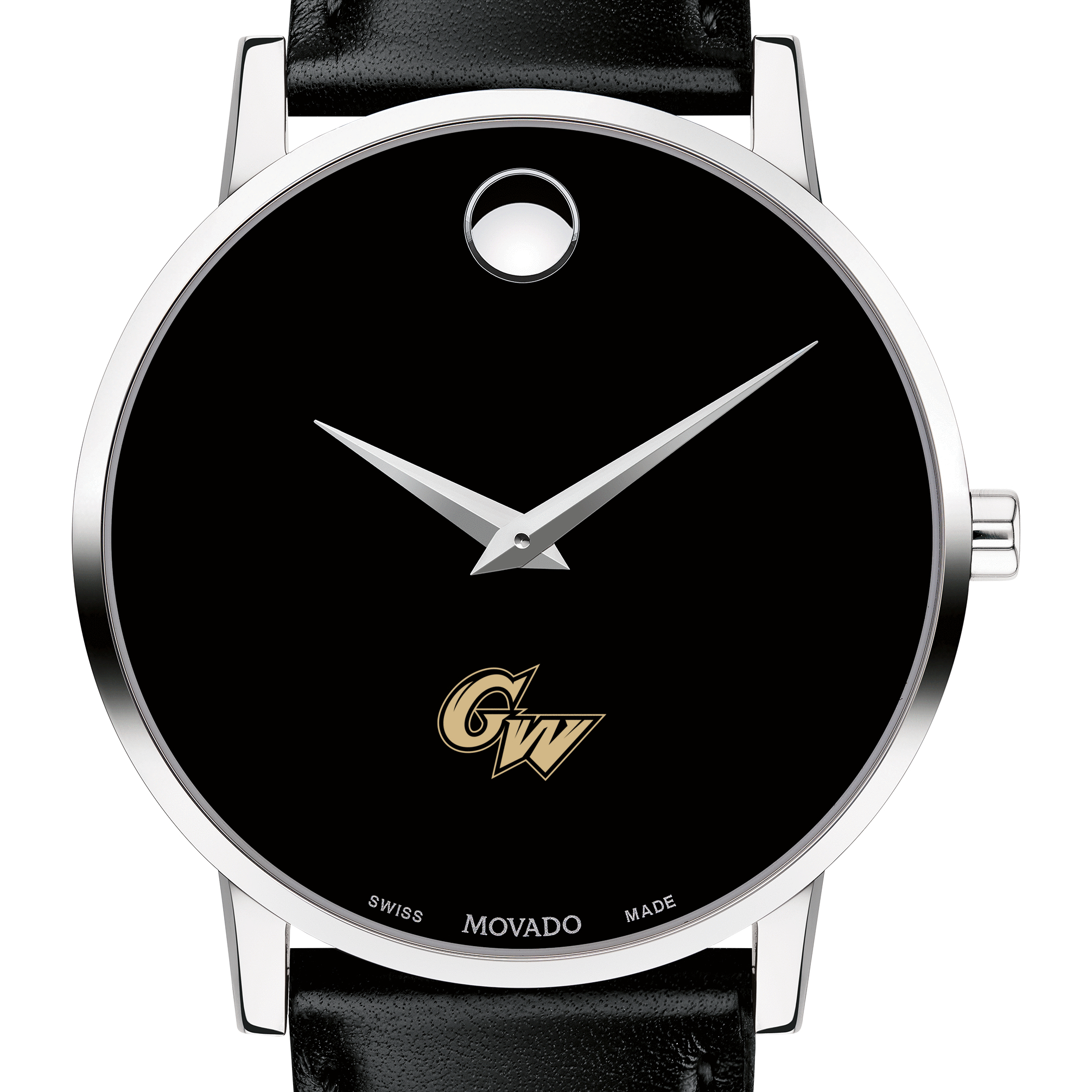 George Washington Men's Movado Museum with Leather Strap
