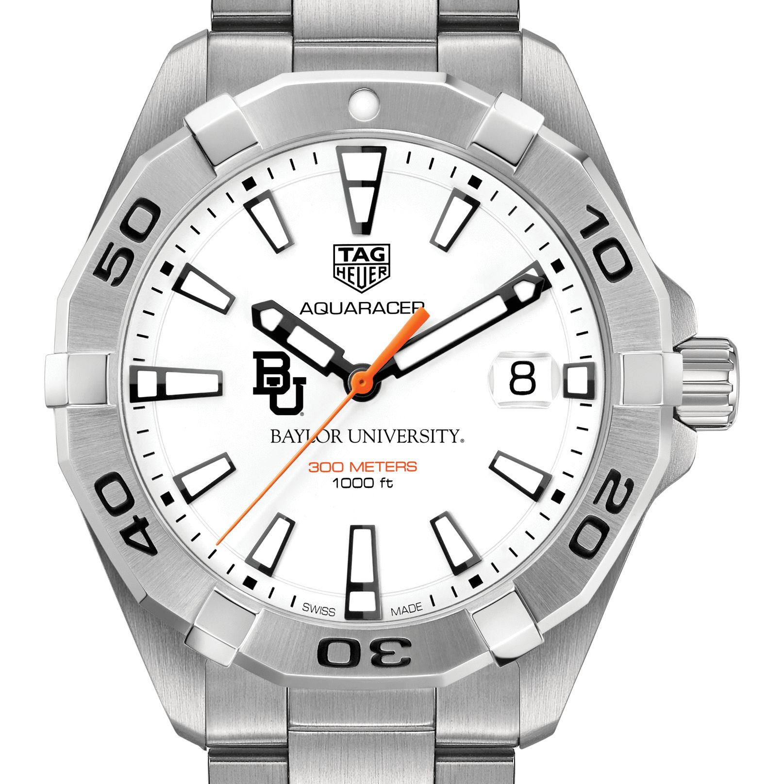 Baylor Men's TAG Heuer Steel Aquaracer