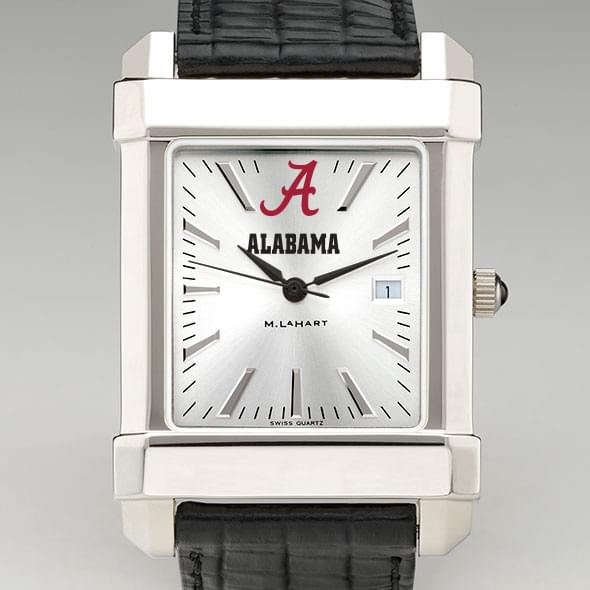 Alabama Men's Collegiate Watch with Leather Strap