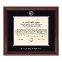 Holy Cross Fidelitas Diploma Frame
