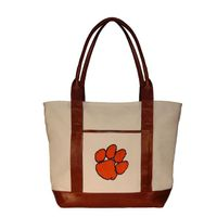 Clemson Needlepoint Tote