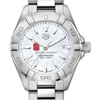 NC State Women's TAG Heuer Steel Aquaracer with MOP Dial