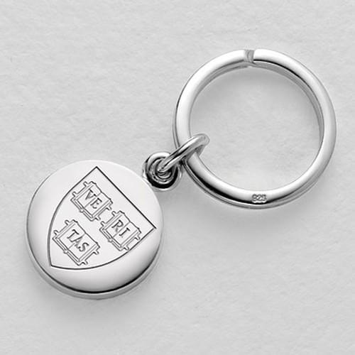 Harvard Sterling Silver Insignia Key Ring