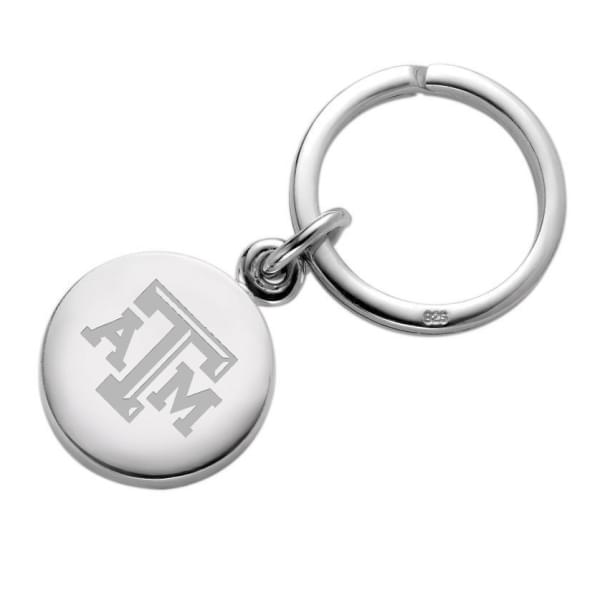 Texas A&M Sterling Silver Insignia Key Ring